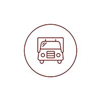 Logo rappresentante il furgone - ristorante sempre disponibile durante gli eventi di Yuba Agency.