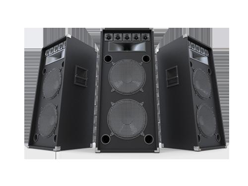 Sound brands utilizzate durante gli eventi audio di Yuba Agency.