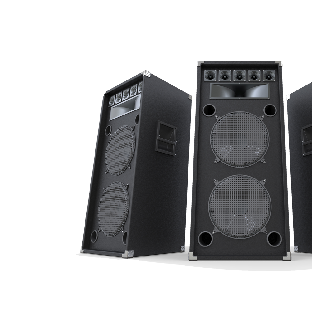 Amplificatori audio utilizzabili nel corso degli eventi.